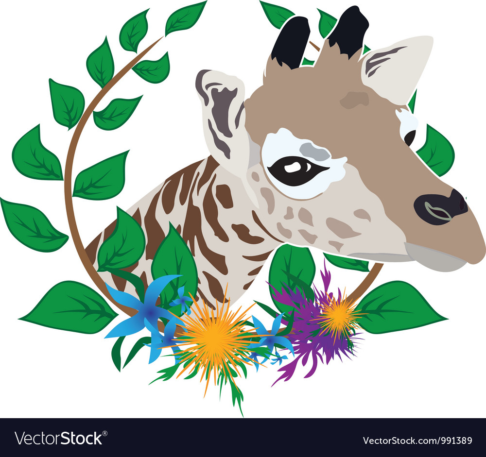 Giraffe zoo symbol vector | Price: 1 Credit (USD $1)