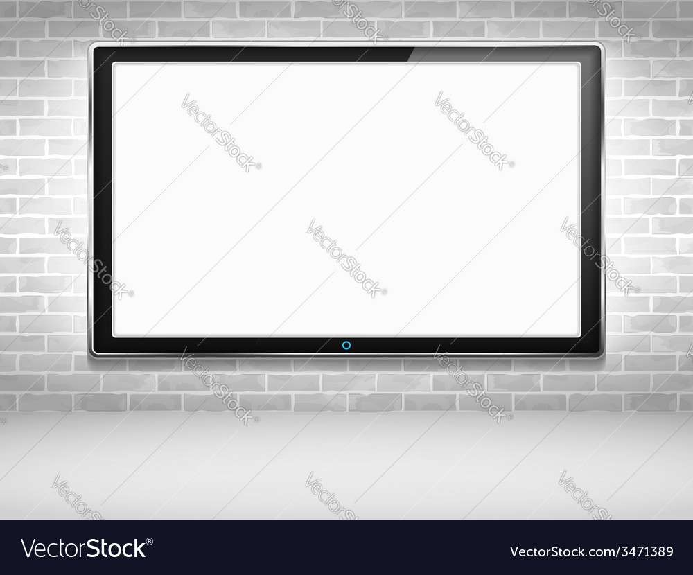 Lcd tv vector | Price: 1 Credit (USD $1)