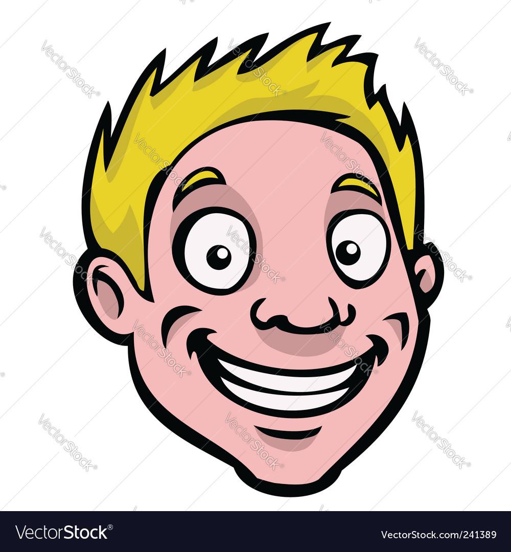 Male cartoon face vector | Price: 1 Credit (USD $1)