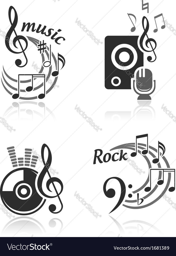 Music elements set vector | Price:  Credit (USD $)