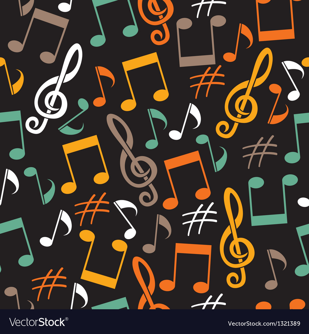Musical background from notes vector | Price: 1 Credit (USD $1)