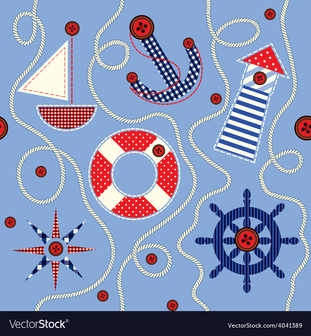 Nautical style pattern vector   Price: 1 Credit (USD $1)