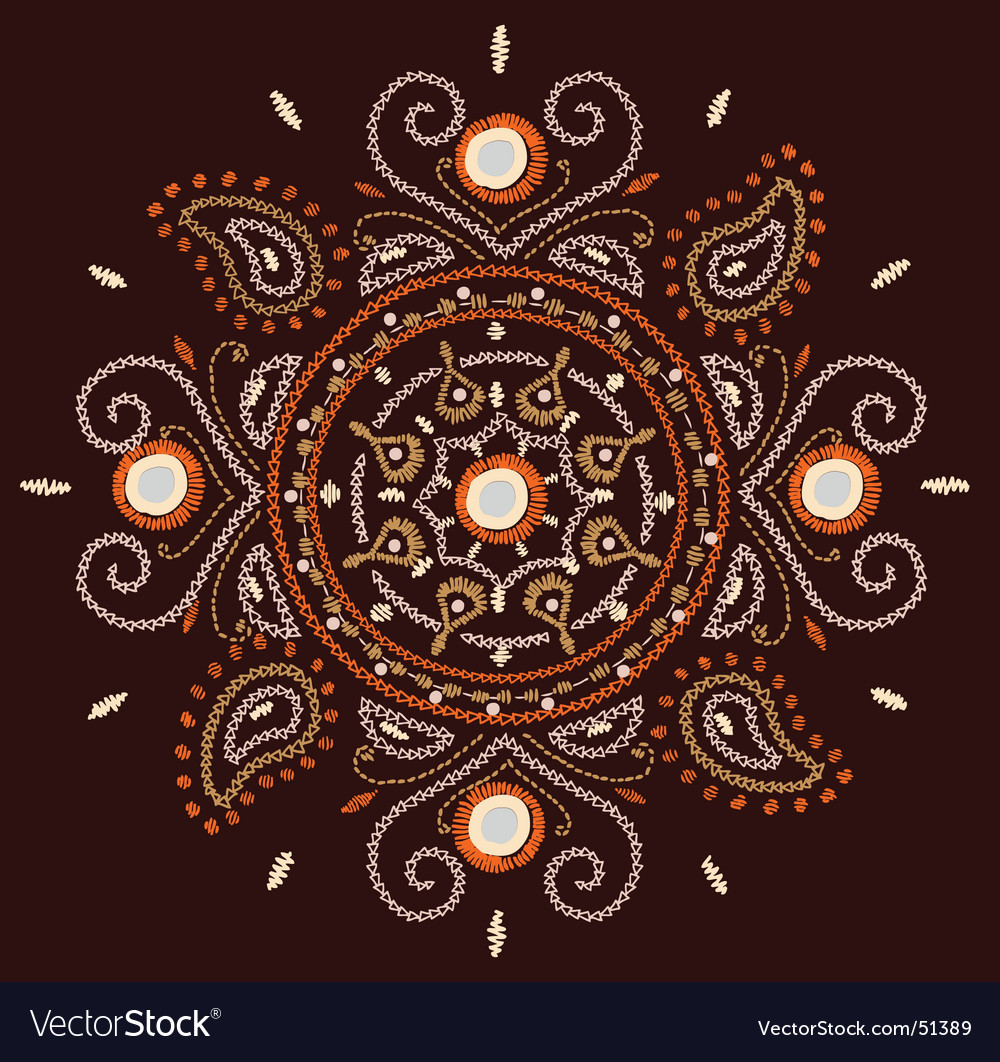 Paisley collar checked vector | Price: 1 Credit (USD $1)
