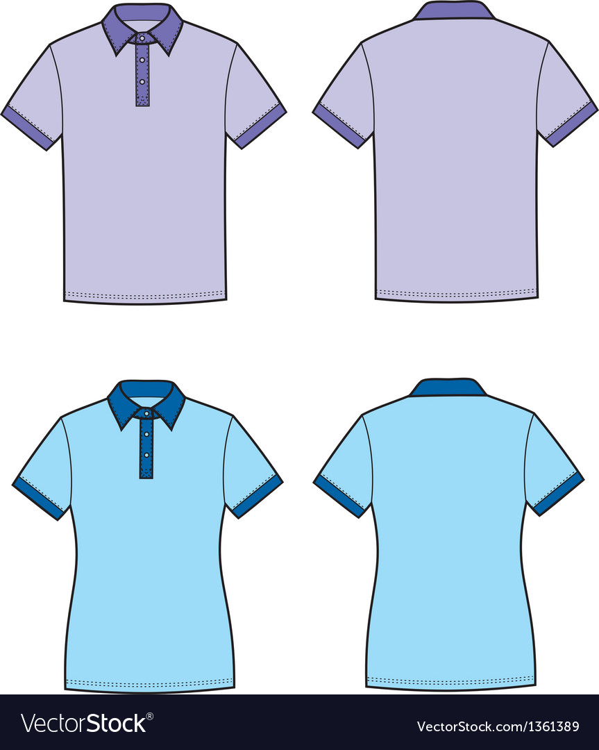 Polo t shirt vector | Price: 1 Credit (USD $1)