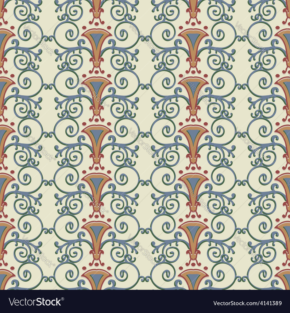 Seamless pattern stylized the ancient roman vector | Price: 1 Credit (USD $1)