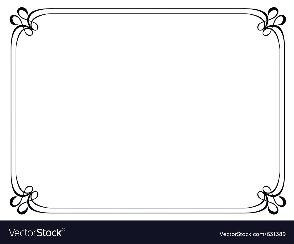 Simple ornamental decorative frame vector | Price: 1 Credit (USD $1)