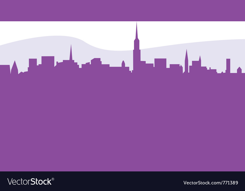 Skycraper silhouette vector | Price: 1 Credit (USD $1)