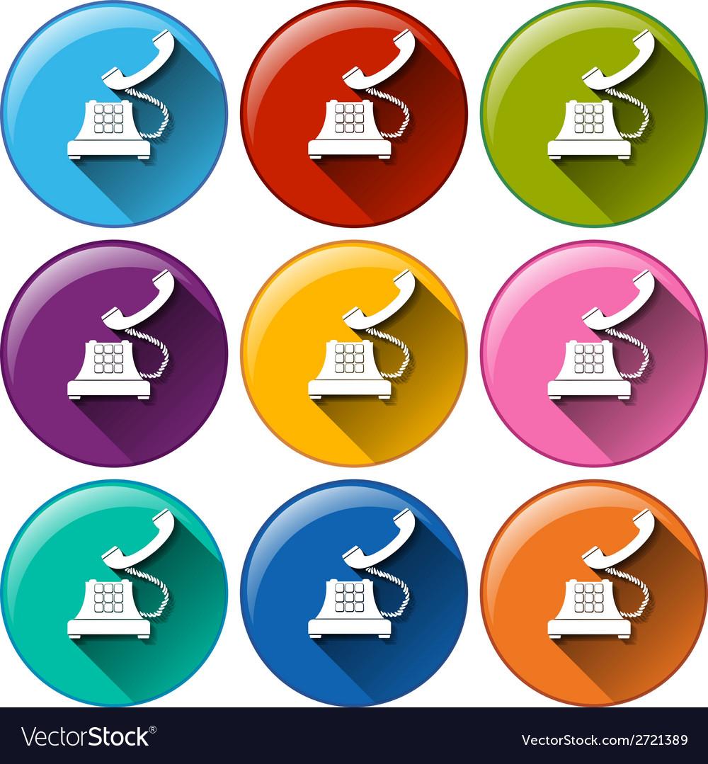 Telephone icons vector | Price: 1 Credit (USD $1)