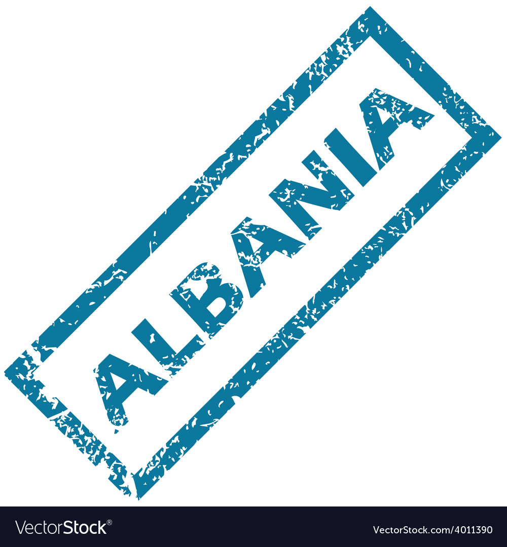 Albania rubber stamp vector | Price: 1 Credit (USD $1)