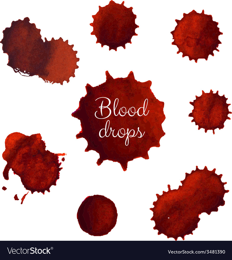 Blood stains big set vector | Price: 1 Credit (USD $1)