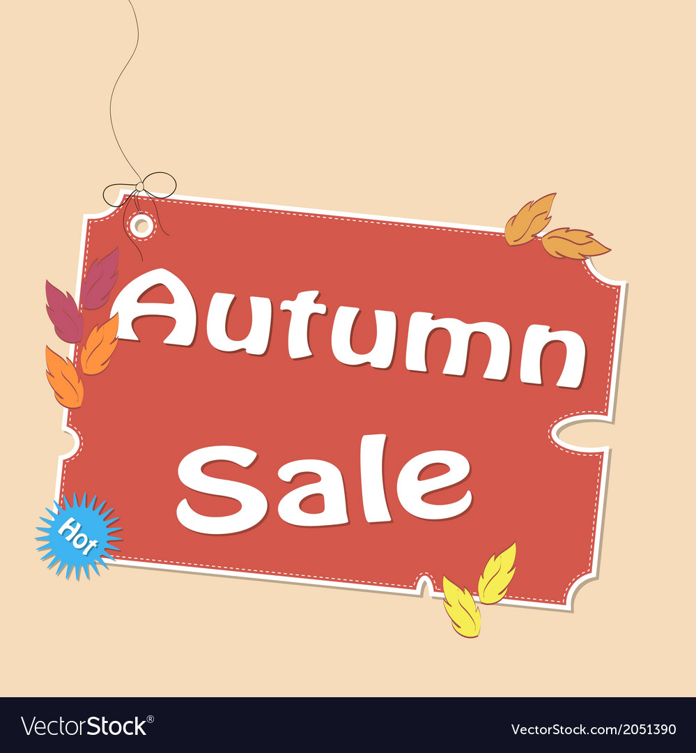 Discount autumn labels vector | Price: 1 Credit (USD $1)