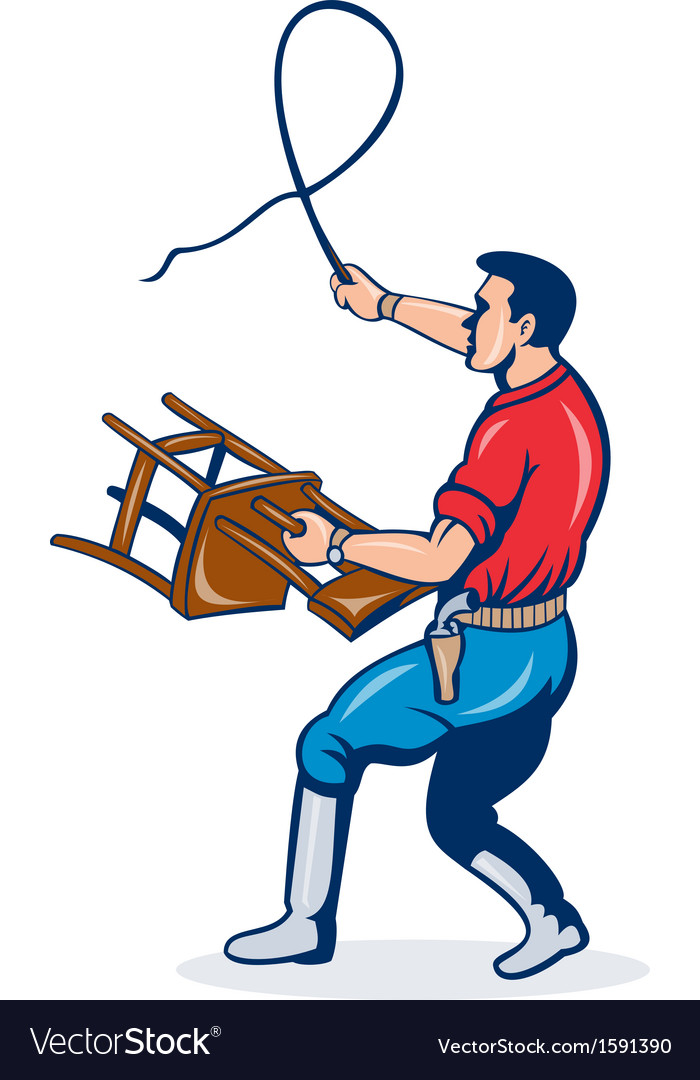 Lion tamer with whip and holding a chair vector | Price: 1 Credit (USD $1)
