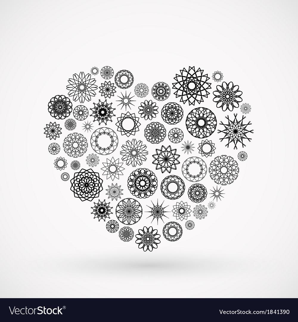 Ornamental heart vector | Price: 1 Credit (USD $1)