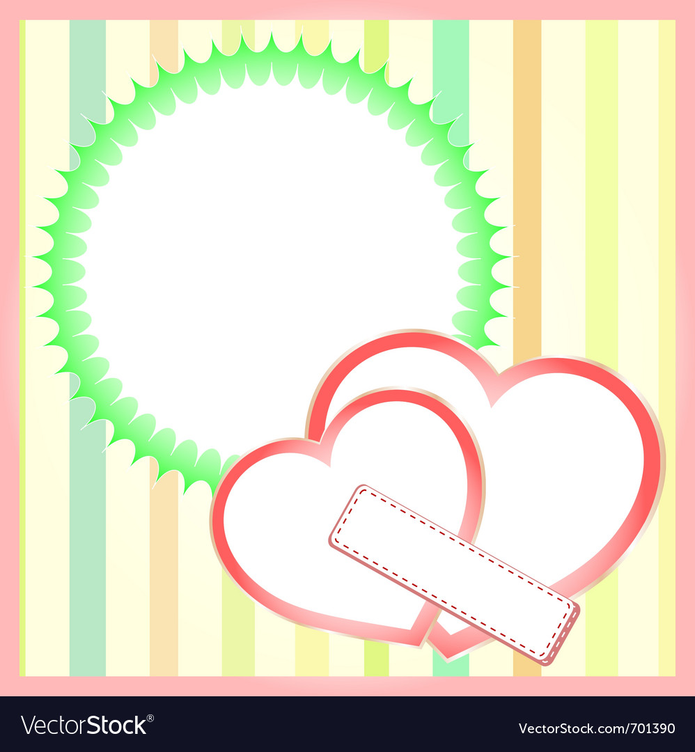 Paper hearts background vector | Price: 1 Credit (USD $1)