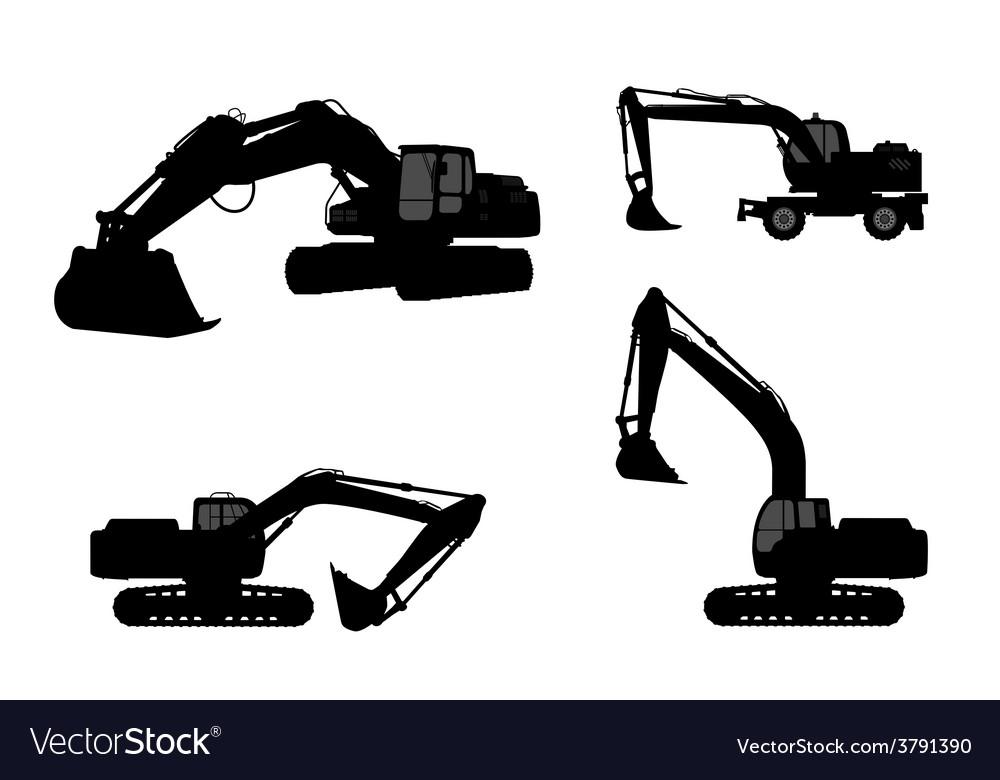Set silhouette the excavate vector | Price: 1 Credit (USD $1)