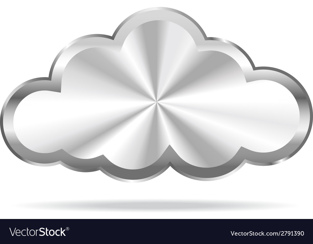 Silver cloud icon vector | Price: 1 Credit (USD $1)