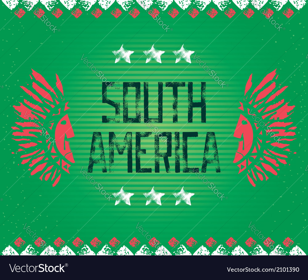 South america background vector | Price: 1 Credit (USD $1)