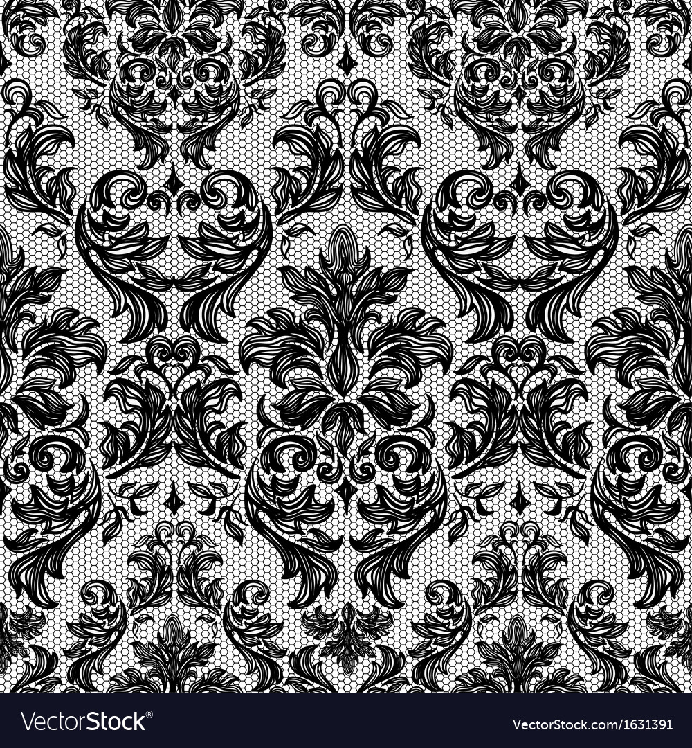 Baroque seamless vintage lace background vector | Price: 1 Credit (USD $1)
