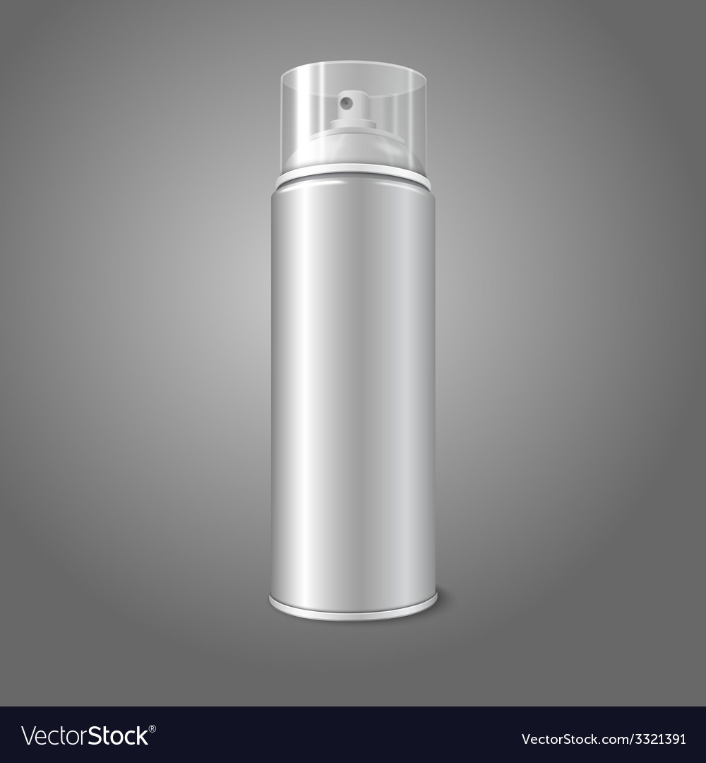 Blank aerosol spray metal 3d bottle can with vector | Price: 1 Credit (USD $1)