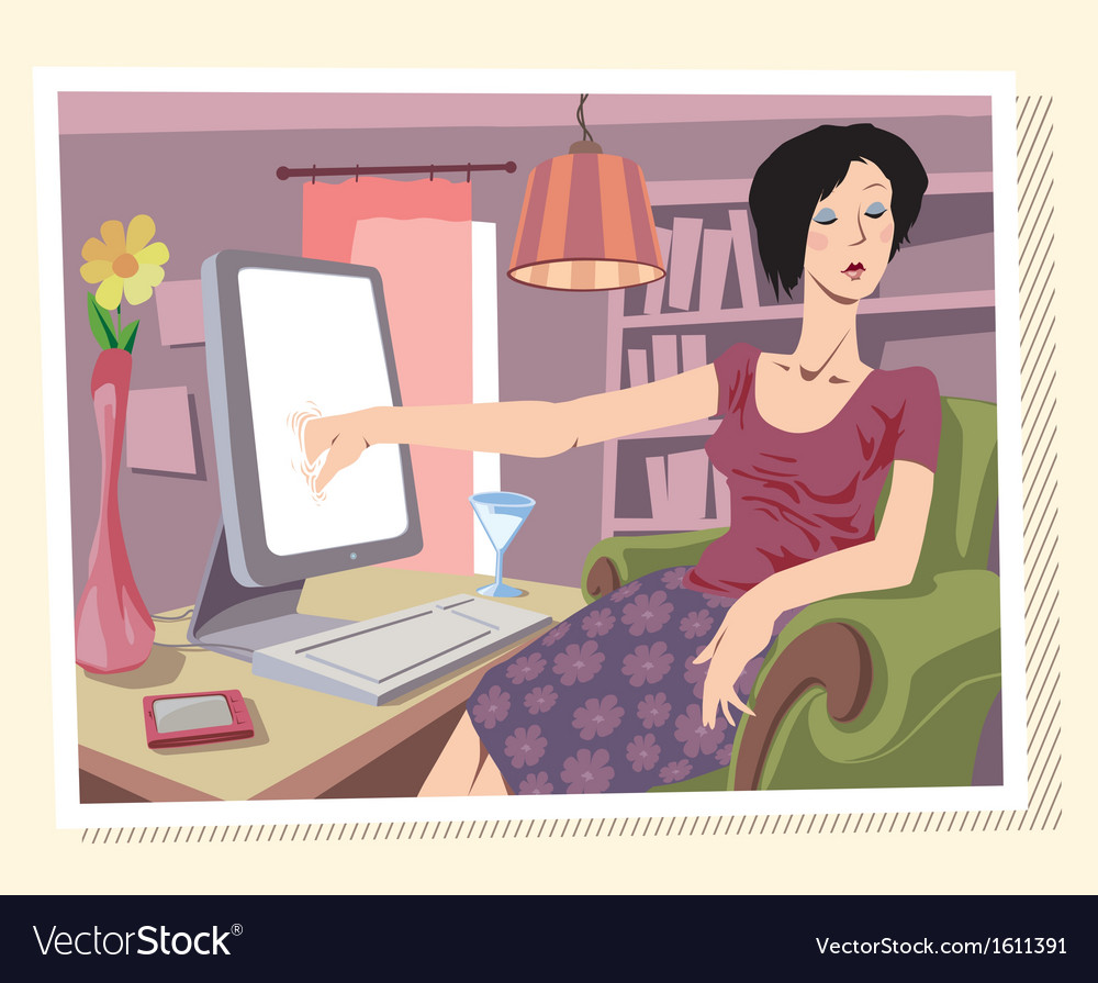 Browsing the internet vector | Price: 3 Credit (USD $3)