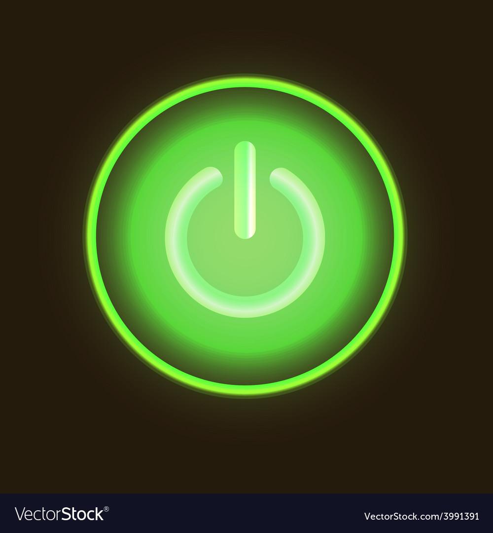 Green neon button vector | Price: 1 Credit (USD $1)