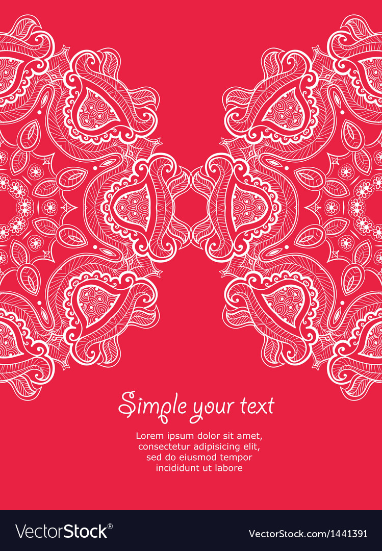 Invitation card with lace ornament 2 vector | Price: 1 Credit (USD $1)