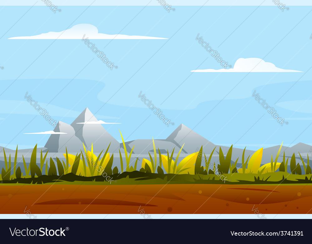 Nature game background landscape vector | Price: 1 Credit (USD $1)