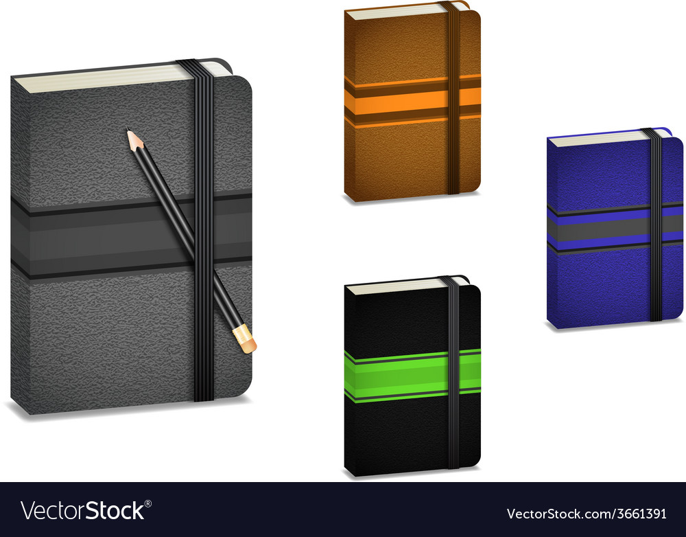 Notebooks with pencil vector | Price: 1 Credit (USD $1)