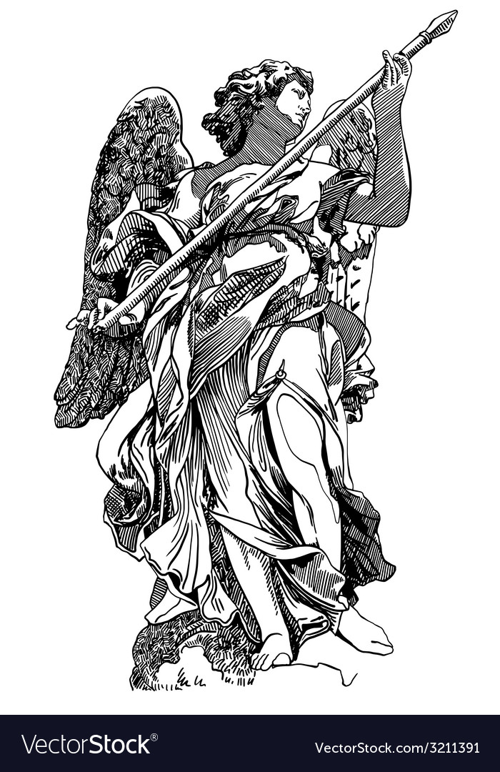Original sketch digital drawing of marble statue vector | Price: 1 Credit (USD $1)