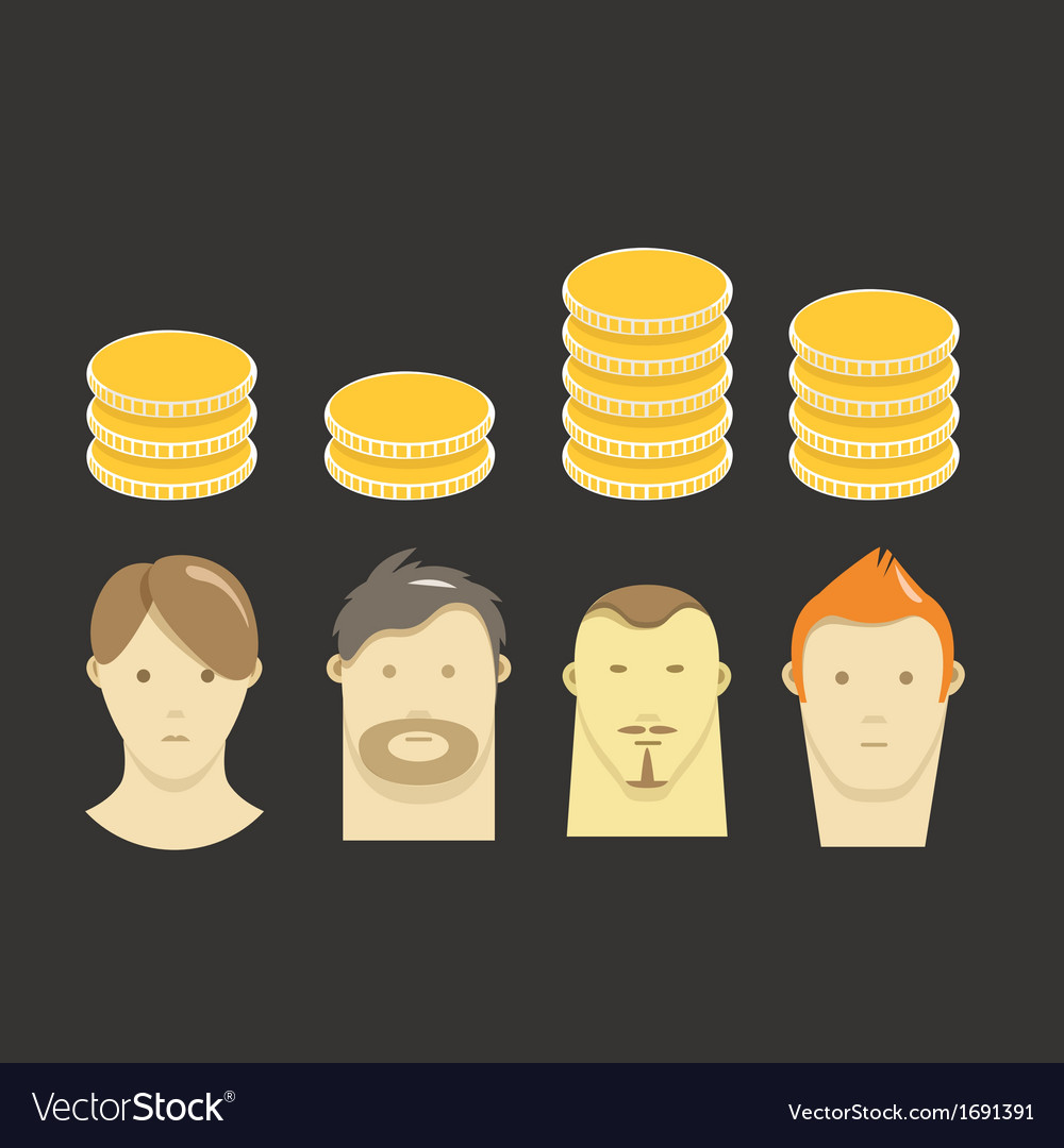 Salary vector | Price: 1 Credit (USD $1)