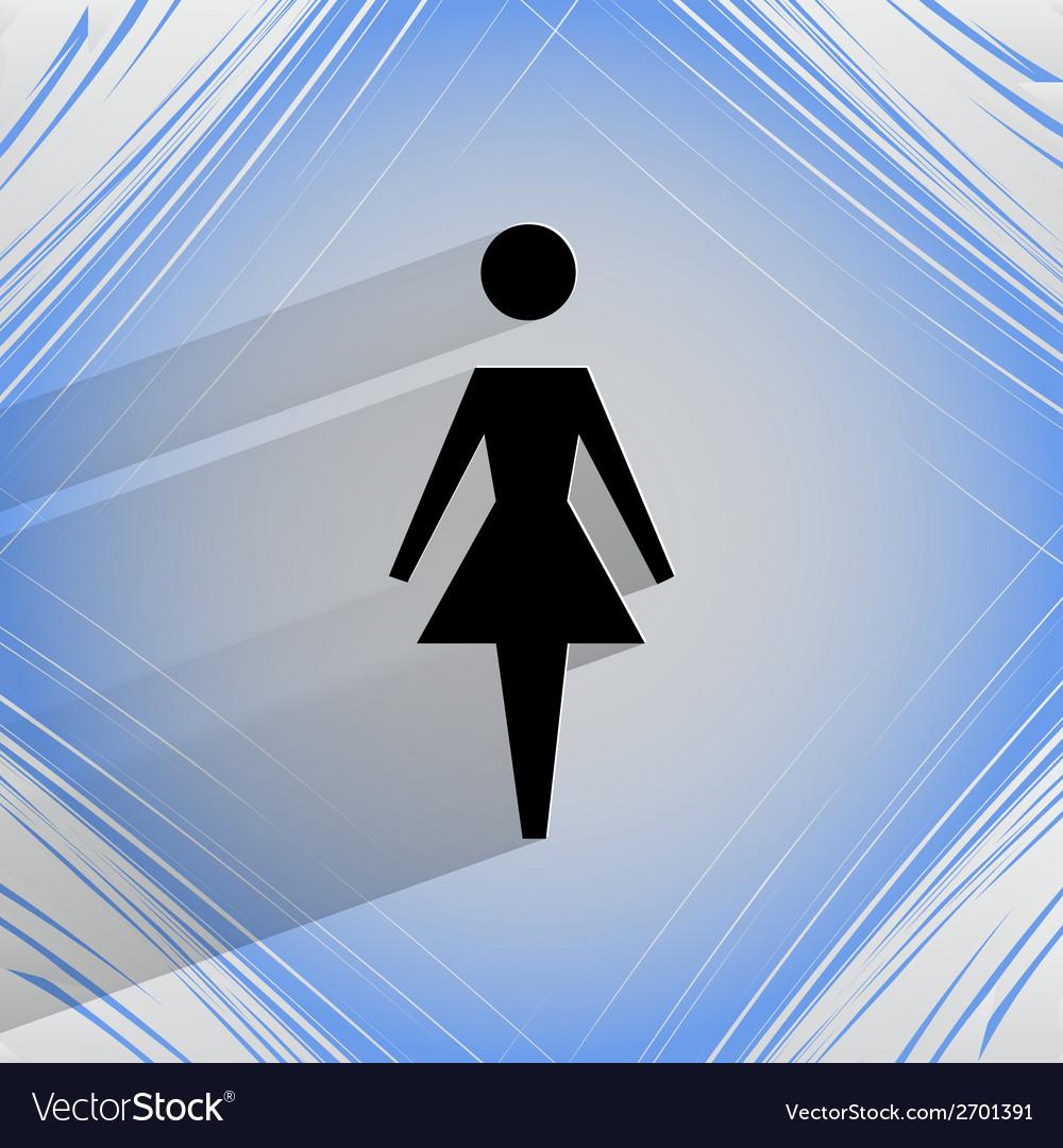 Woman restroom flat modern web design on a flat vector | Price: 1 Credit (USD $1)