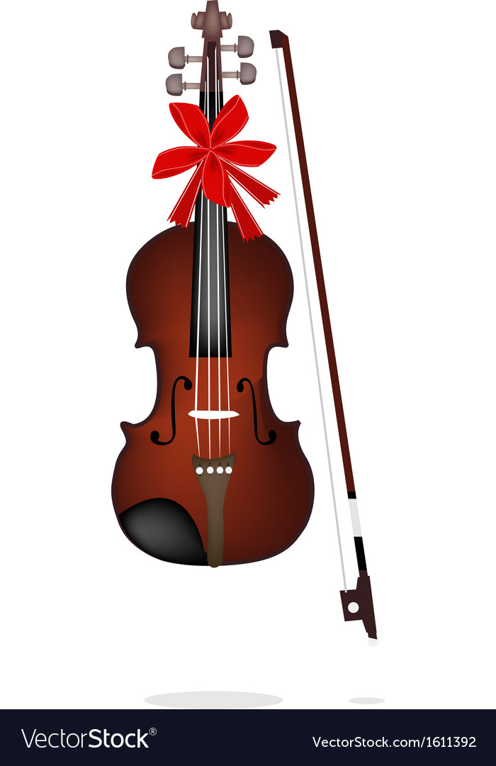 A beautiful brown violin on white background vector   Price: 1 Credit (USD $1)