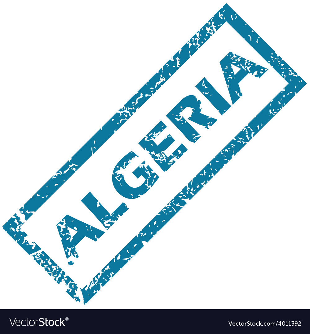 Algeria rubber stamp vector | Price: 1 Credit (USD $1)