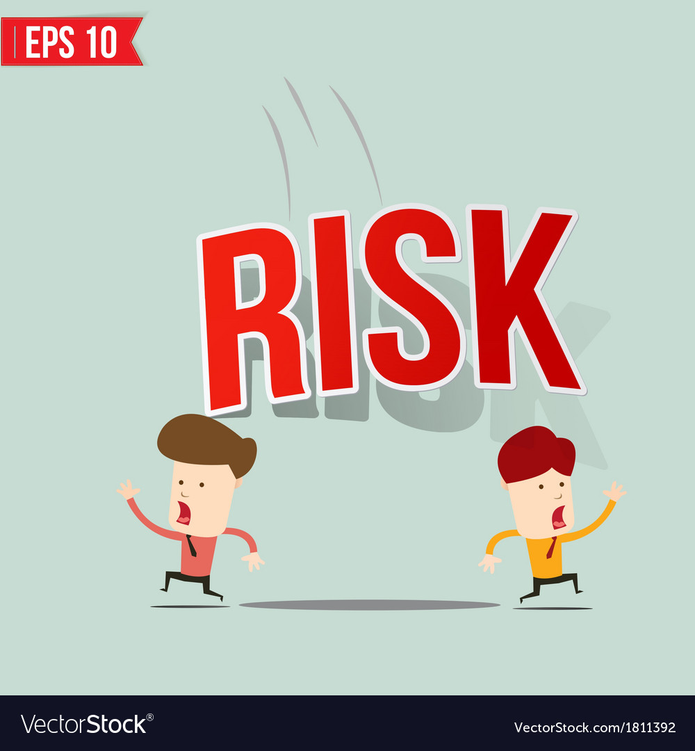 Businessman run away from risk burden vector | Price: 1 Credit (USD $1)