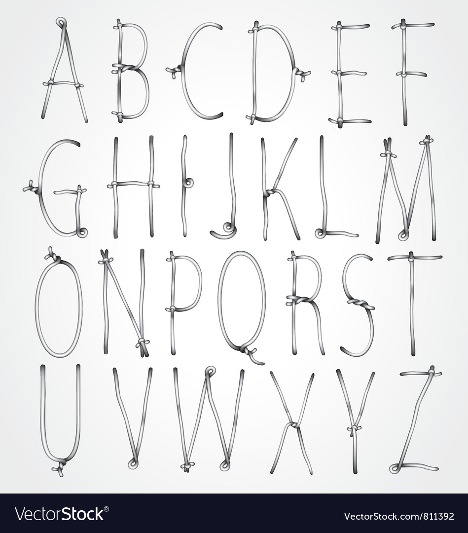 Curly wire font vector | Price: 1 Credit (USD $1)