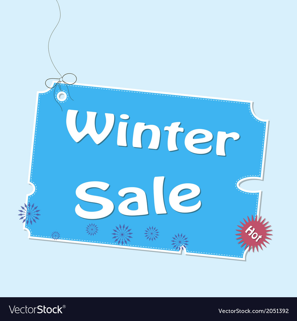 Discount winter labels vector | Price: 1 Credit (USD $1)