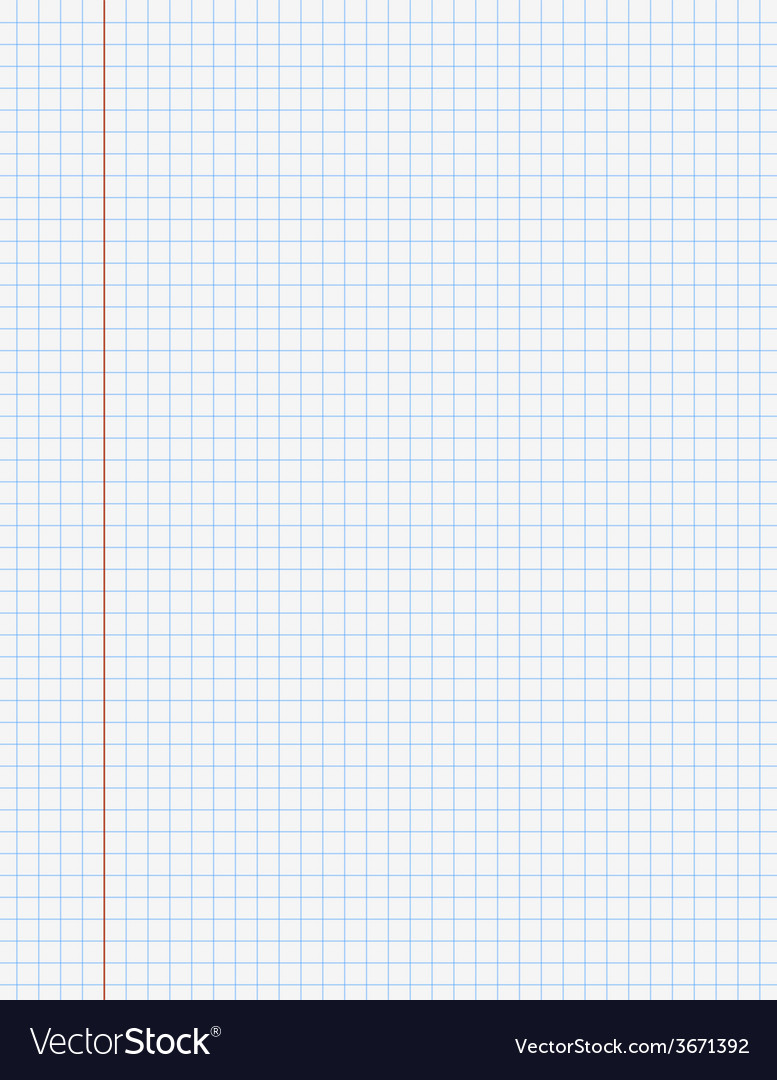 Exercise book paper page with lines vector | Price: 1 Credit (USD $1)
