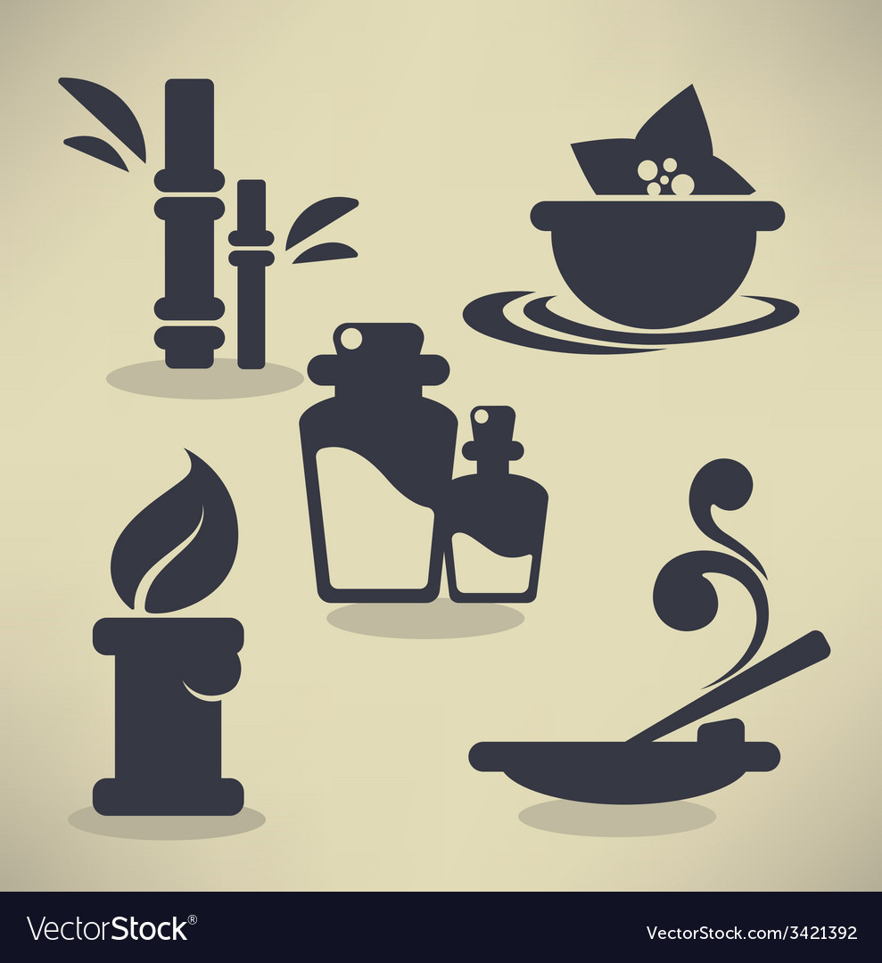 Flat spa icons vector | Price: 1 Credit (USD $1)