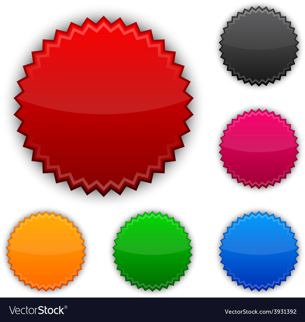 Glossy round award buttons vector | Price: 1 Credit (USD $1)