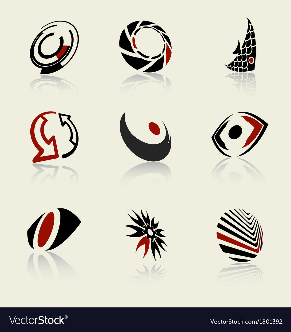 Logo and icon design elements set vector | Price: 1 Credit (USD $1)