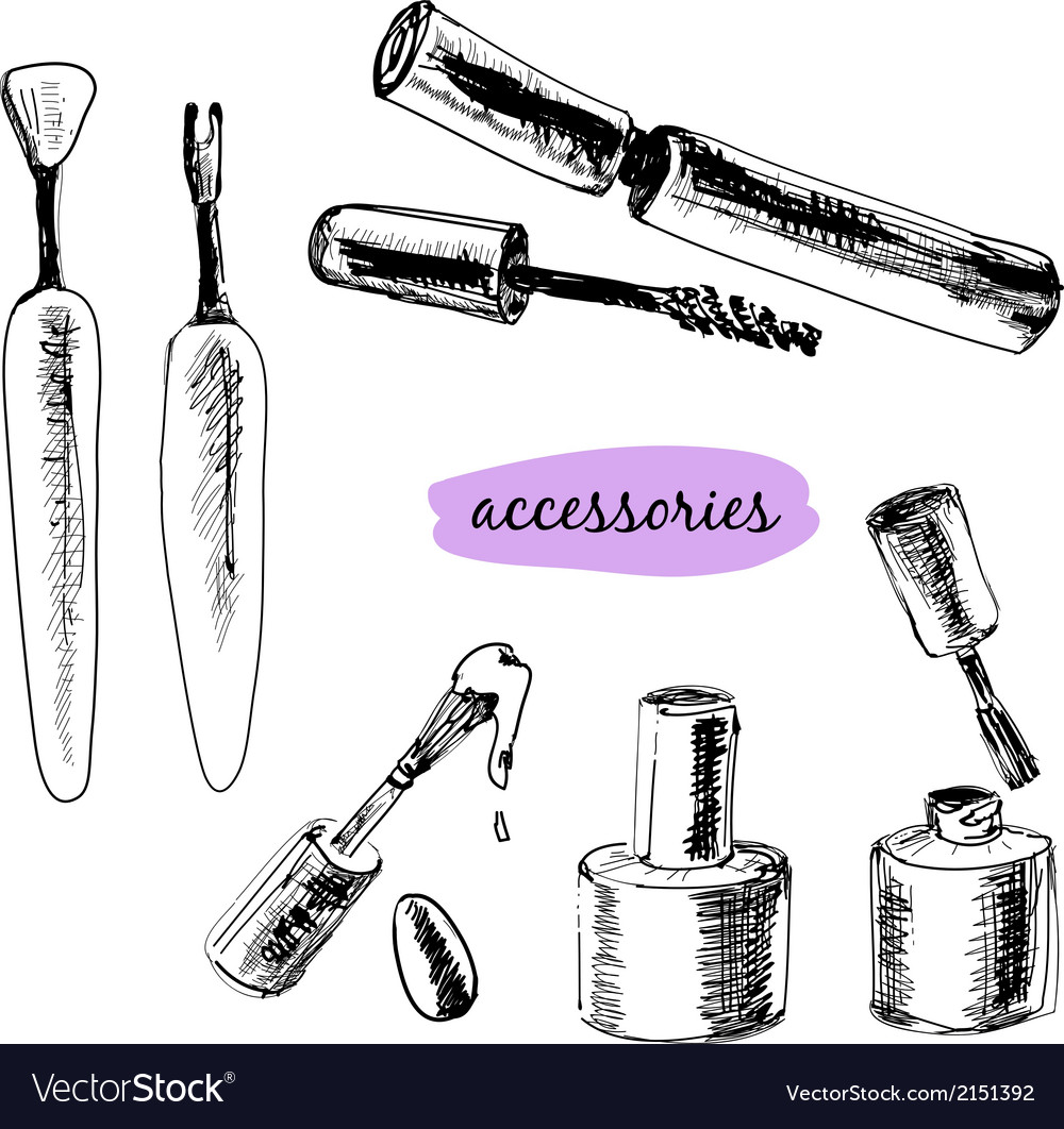 Set os cosmetics vector | Price: 1 Credit (USD $1)