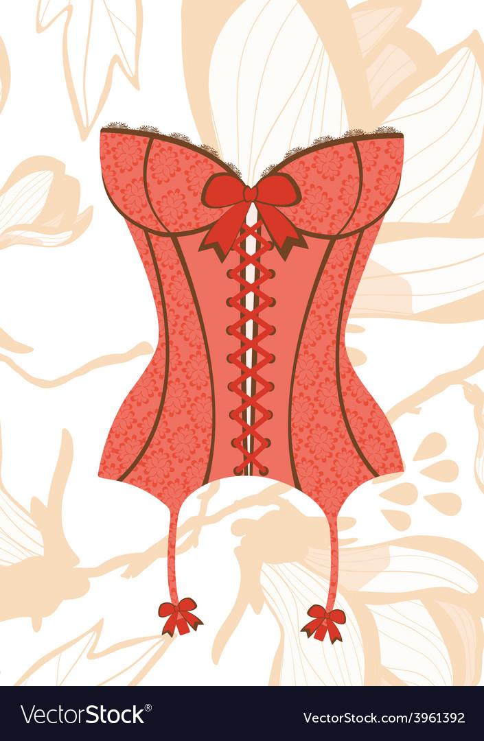 Sexy retro style corset vector | Price: 1 Credit (USD $1)