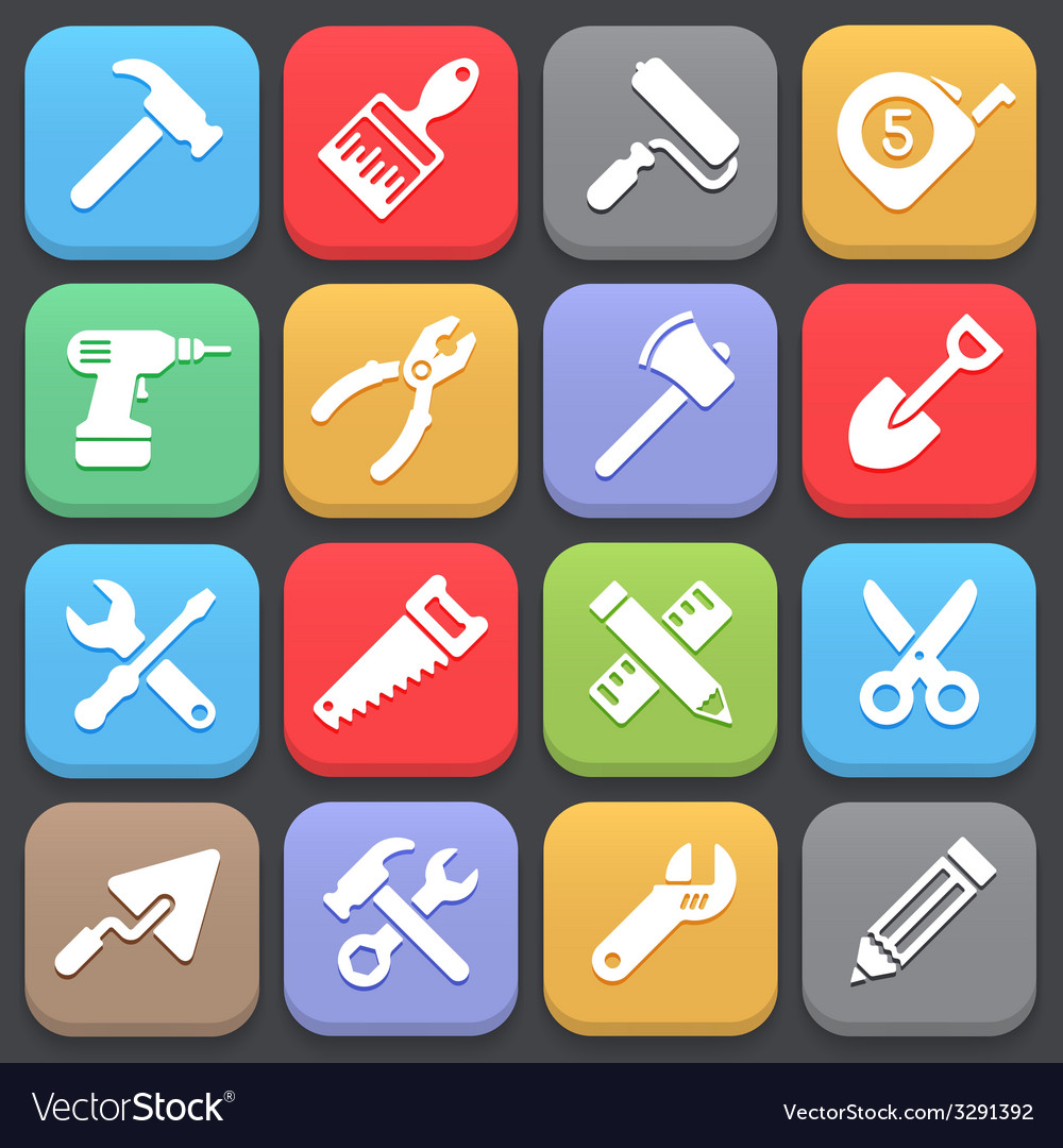 Working tool icons for web or mobile vector | Price: 1 Credit (USD $1)
