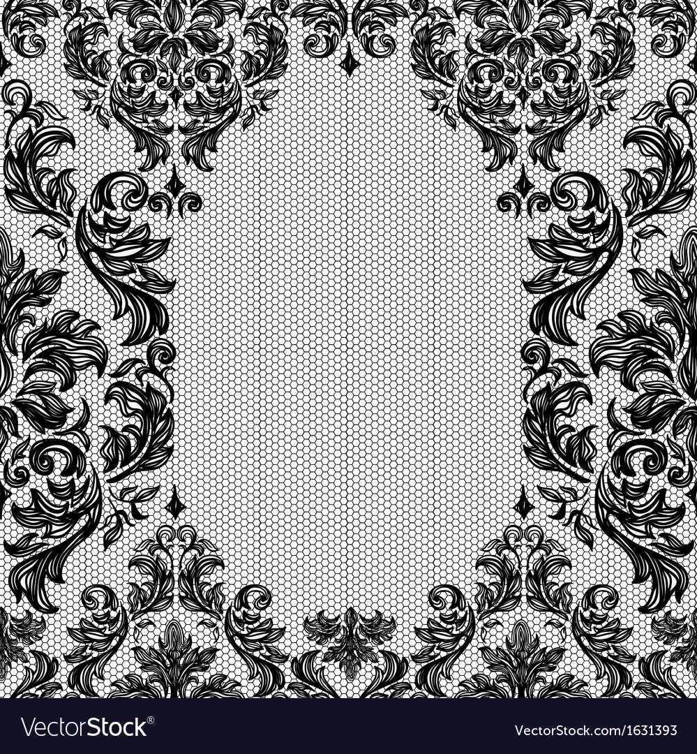 Baroque seamless vintage lace background vector   Price: 1 Credit (USD $1)
