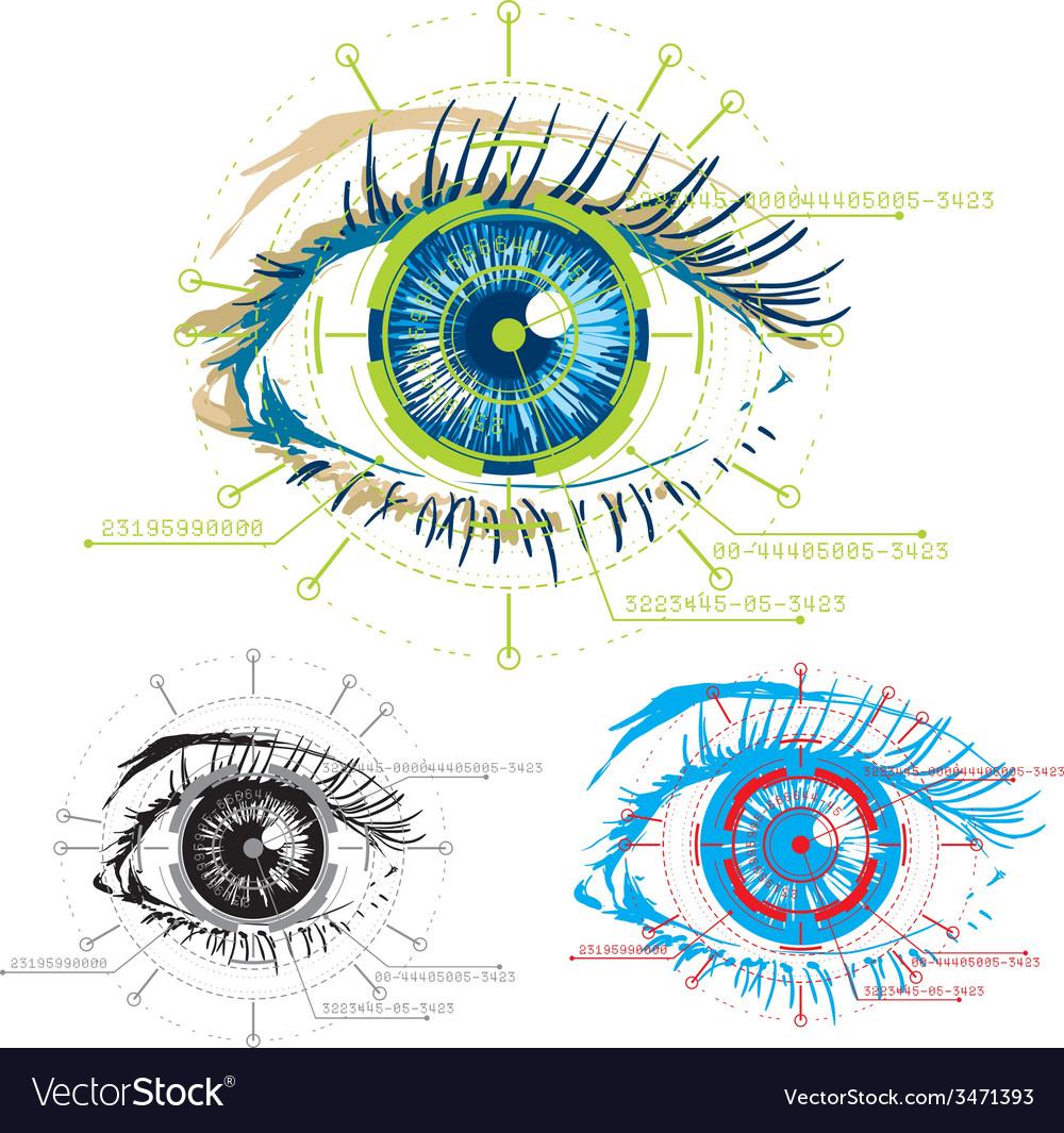 Biometric biometric1 vector | Price: 1 Credit (USD $1)
