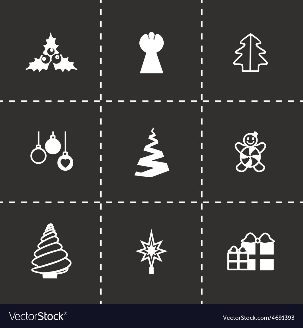 Cristmas trees icon set vector | Price: 1 Credit (USD $1)
