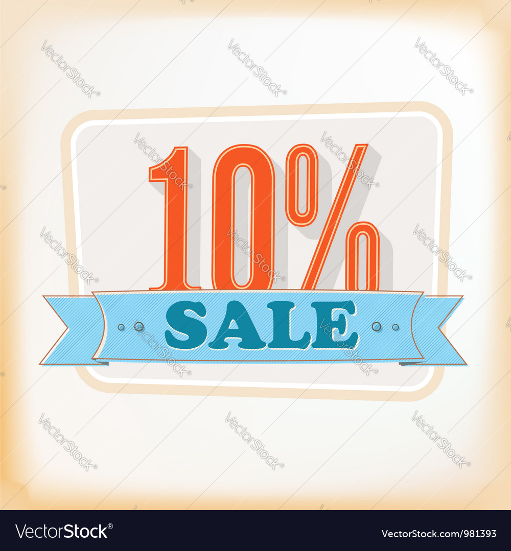 Discount labels 10 vector | Price: 1 Credit (USD $1)