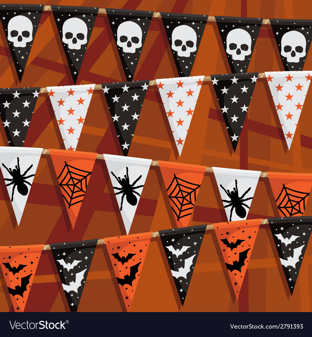 Halloween bunting vector | Price: 1 Credit (USD $1)