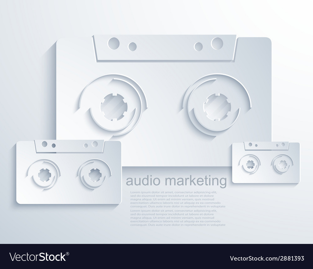 Modern audio marketing background vector | Price: 1 Credit (USD $1)