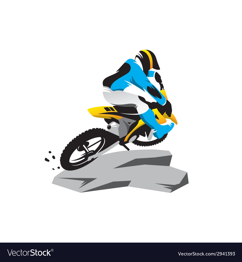 Motocross sign vector | Price: 1 Credit (USD $1)